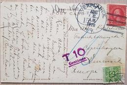 USA Denmark 1928 Taxee - United States