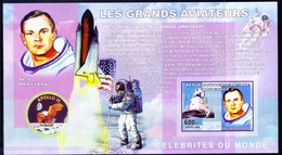 Congo 2006 MNH Imperf MS, Armstrong, Space, 1st Man On Moon, Astronaut - Space