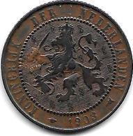 *netherlands 2,5 Cents 1903 Km 134  Vf - [ 3] 1815-… : Kingdom Of The Netherlands