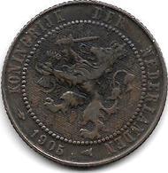 *netherlands 2,5 Cents 1905 Km 134  Vf+ - [ 3] 1815-… : Kingdom Of The Netherlands