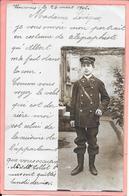 Carte Photo D'un Jeune Télégraphiste En Tenue Cour Intérieure Vincennes - Poste & Facteurs