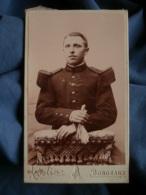 Photo CDV Abelin à Bordeaux  Portrait Militaire  144e Régiment Infanterie  CA 1900 - L424 - Fotos