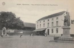 Gembloux   Place St Guibert Et Chapelle De L'ange Gardien  Hotel De L'Empereur Animée N'a Pas Circulé - Gembloux