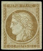 (*) EMISSION DE 1849 - 1a   10c. Bistre-brun, TB - 1849-1850 Ceres