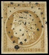 EMISSION DE 1849 - 1    10c. Bistre-jaune, Oblitéré PC 214, TB - 1849-1850 Ceres
