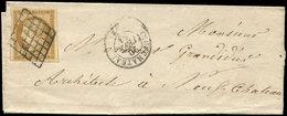 Let EMISSION DE 1849 - 1    10c. Bistre-jaune, Obl. GRILLE S. LSC, Càd T15 NEUFCHATEAU 20/2/51, TB - 1849-1850 Ceres