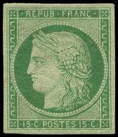 * EMISSION DE 1849 - 2    15c. Vert, Frais Et TTB. C - 1849-1850 Ceres