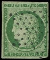 EMISSION DE 1849 - 2    15c. Vert, Oblitéré ETOILE, TB. J - 1849-1850 Cérès