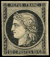 ** EMISSION DE 1849 - 3    20c. Noir Sur Jaune, TB. C - 1849-1850 Ceres
