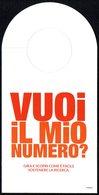ITALIA - SEGNALIBRO / BOOKMARK - SCLEROSI MULTIPLA - VUOI IL MIO NUMERO? PRENDI NOTA, DAI IL TUO 5x1000 A FISM - Segnalibri