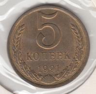 @Y@  Rusland  5 Kopeck  1991  (4780) - Rusland