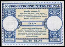 ISLANDE  International Reply Coupon / Coupon Réponse International - Entiers Postaux