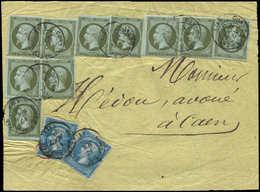Let AFFRANCHISSEMENTS ET COMBINAISONS - N°11 (10) Et 22 (2) Obl. Càd T15 CONDE-S-NOIREAU 17/8/63 S. Devant De Papiers D' - Marcophilie (Lettres)