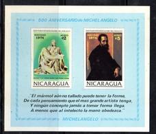 BF99 - NICARAGUA 1974 , Il Foglietto N. 114  MICHELANGELO  ** - Nicaragua