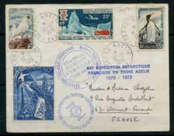 Terre Adelie Du 30/12/1970 A Destination De Clermont Ferrand - Terres Australes Et Antarctiques Françaises (TAAF)