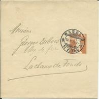 34, 5 Cts, Bande De Journal, Obl. Basel 14.II.19, Au Dos Raison Sociale Rud Lindner - Entiers Postaux
