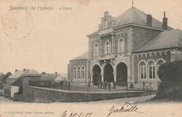 Souvenir De Hamois   L'école Animée Circulé En 1907 - Hamois