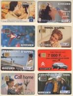 Lot (1) De 8 Télécartes Françaises De 1992 Usagées, Voir Détail Dans Le Descriptif - France