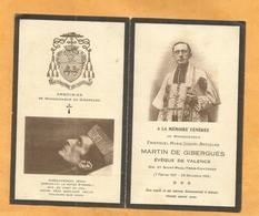 CARTE MEMOIRE  MORTUAIRE GENEALOGIE FAIRE PART DECES EMMANUEL MARTIN DE GIBERGUES EVEQUE DE VALENCE   1855-1919 - Overlijden