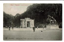 CPA - Carte Postale -  Belgique - Bruxelles -Entrée Du Bois Et Statue Les Lutteurs -VM413 - Bossen, Parken, Tuinen