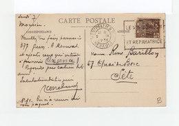 Sur Carte Postale De Toul Slogan Le Vin Boisson Saine Et Réparatrice Sur Timbre Expo Coloniale Paris 1931. (3209) - Marcophilie (Lettres)