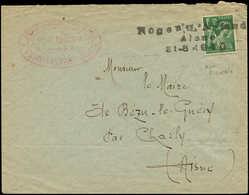 Let Guerre 1939/1945 - N°432 Obl. Griffe Nogent L'Artaud/Aisne/S1-8-1940 S. Env., Cachet Provisoire, TB - Marcophilie (Lettres)