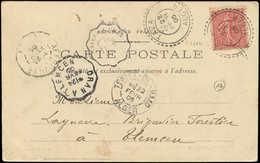 Let ALGERIE France N°129 Obl. TAZA 22/2/05 S. CP, TB - Algérie (1924-1962)