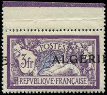 ** ALGERIE 32 : 3f. Violet Et Bleu, Surcharge A CHEVAL, Bdf, TB, Cote Maury - Algérie (1924-1962)