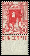 ** ALGERIE 137Aa : 90c. Rouge, Avec Pub, NON EMIS, TB - Algérie (1924-1962)