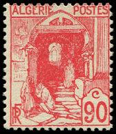 * ALGERIE 137A : 90c. Rouge, TB. C - Algérie (1924-1962)