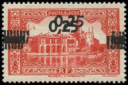 * ALGERIE 144a : 0,25 Sur 50c. Rouge, DOUBLE Surcharge, TB. Br - Algérie (1924-1962)