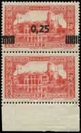 ** ALGERIE 148c : 0,25 Sur 50c. Rouge, Tenant à Non Surchargé, Bdf, TB. Br - Algérie (1924-1962)