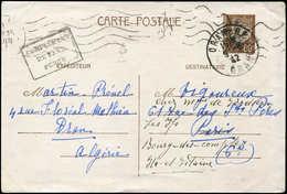 Let ALGERIE France : CP Entier 80c. Pétain, Cachet Local Complément De Taxe Perçu, Obl. ORAN RP 9/6/42, ACEP N°19B, TB - Algérie (1924-1962)