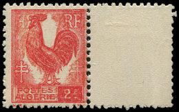 ** ALGERIE 220 : 2f. Rouge, Impression DOUBLE Dont Une INVERSEE Et RECTO-VERSO, Non Répertorié, TB - Algérie (1924-1962)
