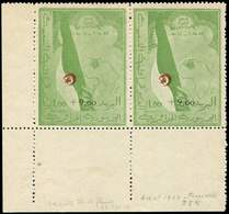 ** ALGERIE 363A : 1,00 + 9,00 Vert, NON EMIS, PAIRE Cdf, Un Ex. AVEC Fleuve Congo, TB. C - Algérie (1924-1962)