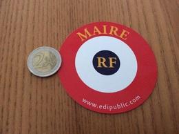 Carte (macaron) «MAIRIE RF - Edipublic» - Autres Collections
