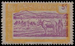 ** CAMEROUN 109 : 5c. Jaune Et Lilas, Centre Et Valeur Déplacés, TB - Cameroun (1915-1959)