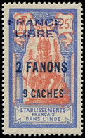 * INDE 131 : 2fa.9ca. Sur 25c., FRANCE LIBRE, Infime Ch., TTB. Br - India (1892-1954)