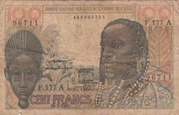 BCEAO - 100 F - Banque Centrale Des Etats De L'Afrique De L'Ouest - 20/03/1961 - États D'Afrique De L'Ouest