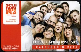 ITALIA 2016 - CALENDARIO TASCABILE - SCLEROSI MULTIPLA - TUTTO L'ANNO INSIEME - Calendriers