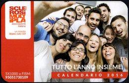 ITALIA 2016 - CALENDARIO TASCABILE - SCLEROSI MULTIPLA - TUTTO L'ANNO INSIEME - Calendars