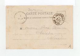 Sur Carte Postale De Baccarat Cachet Ambulant 1901 St Die à Luneville. (3210) - Marcophilie (Lettres)