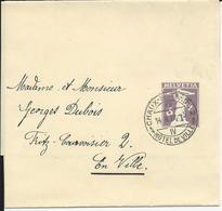 33, 3 Cts, Bande De Journal, Obl. Chaux-de-Fonds 14.II.19, Hôtel De Ville - Entiers Postaux