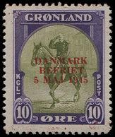 ** DANEMARK Groënland 18D : 10ö., Surcharge Rouge, TB - Groenland