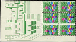 ** LIECHTENSTEIN 355 : Europa 1960, BLOC De 6 Cdf, TB - Liechtenstein