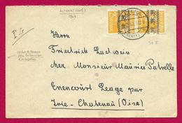 Enveloppe Avec Censure Datée De 1948 - Pli Expédié D'Altena En Allemagne à Destination D'Énencourt Léage En France - American/British Zone