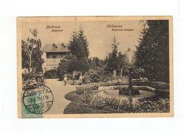 Sur Carte Postale De Mulhouse Mülhausen Timbre Deutches Reich CAD Mûlhausen Elsass Juillet 1910. (3212) - Marcophilie (Lettres)