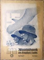 DR Werbeblatt WHW 1940 - 1941 Soldat, Adler, Hakenkreuz - Briefe U. Dokumente