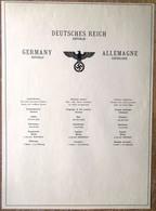DR Deckblatt Deutsches Reich Republik Mit Daten Zum Deutschen Reich - Deutschland