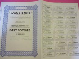 """Part Sociale Sans Désignation De Valeur /L'EOLIENNE""""/Imp Van Der AA/BruxellesI /ALOST/1944   ACT164 - Electricité & Gaz"""